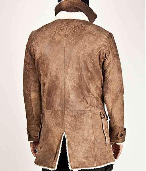 Stylish Seduka Villain Men's Faux Leather Sherpa Jacket Coat Bane Batman Style