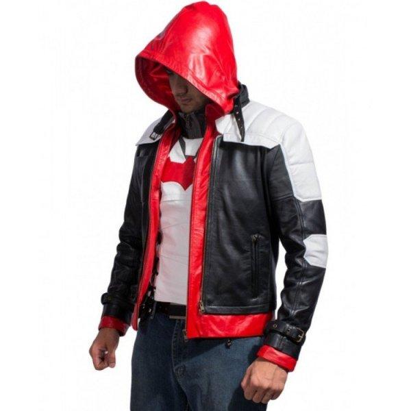 red hood cosplay jacket arkham knight batman
