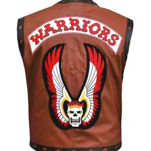 Warriors Brown Vest Leather