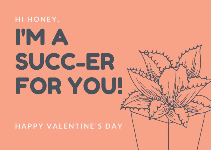 I'm a Succ-er For You - Valentine's Day Cards for Plant Lovers