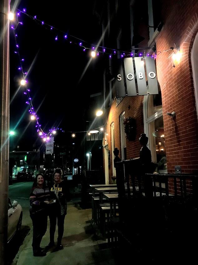 Beth & Lisa outside of Sobo Cafe