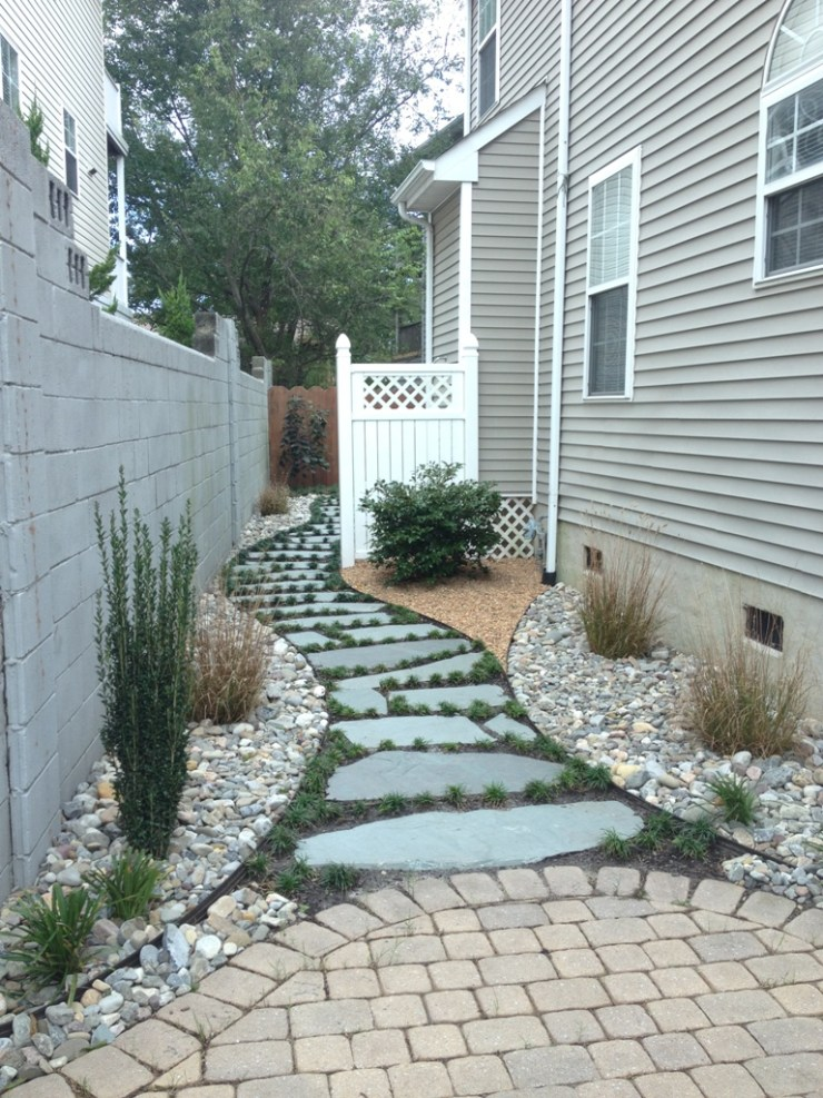 landscaping with walkways