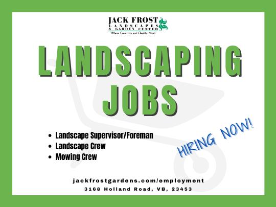 Landscaping jobs forman supervisor laborer crew mowing