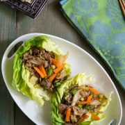 Mu Shu Jackfruit Lettuce Wraps