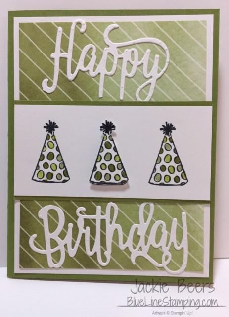 Stampin' Up! Happy Birthday Thinlit card, Jackie Beers, stampinup, jackiebeers