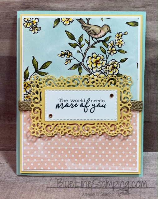 Stampin' Up!, Free As A Bird, Bird Ballad, Ornate Layers, Stitched Rectangles, Jackie Beers