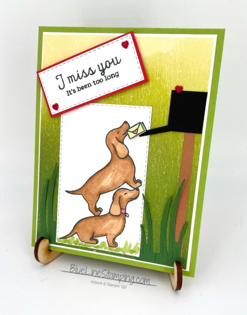 Stampin' Up!, hot dog, artistry blooms, stitched rectangles, jackie beers