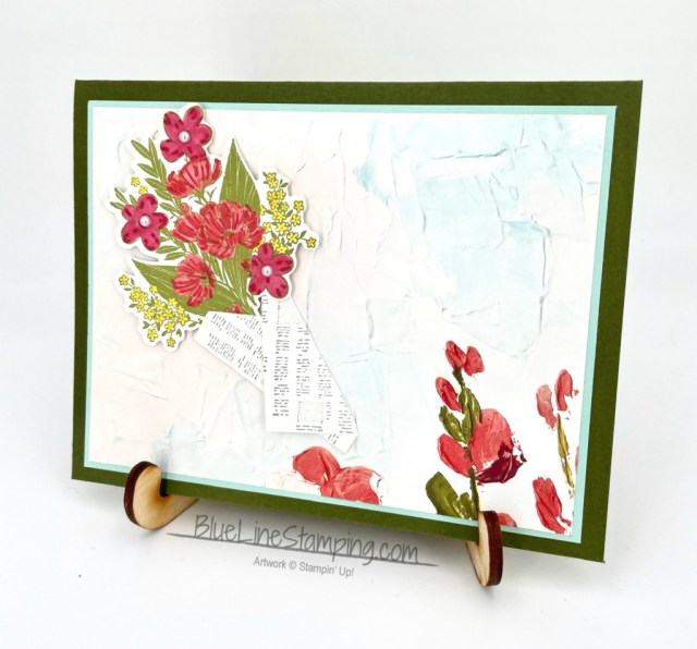 Stampin' Up!, Wrapped Bouquet, Fine Art Floral, Jackie Beers