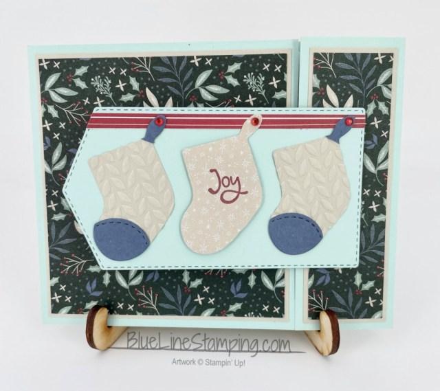 Stampin' Up!, stockings dies, whimsical trees, tidings of christmas, Jackie Beers