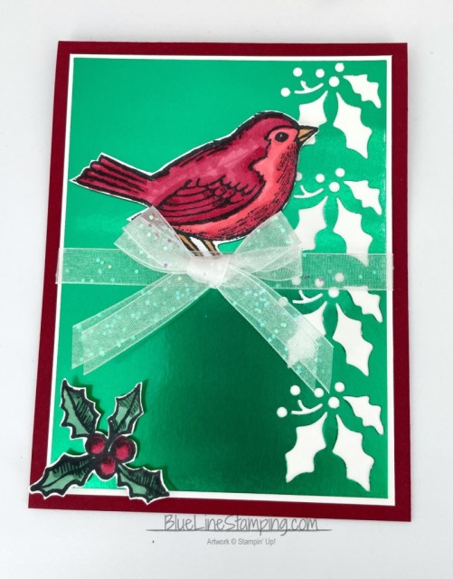 Stampin' Up!, Happy Holly-Days, Green Foil, Jackie Beers