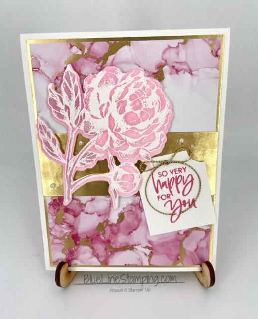 Stampin' Up!, Expressions In Ink, Prized Peony, Color & Contour, Gold Foil, Jackie Beers