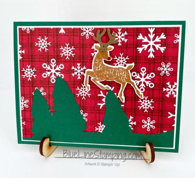 Stampin' Up!, Peaceful Deer, Cabin Dies, Peaceful Prints, Jackie Beers