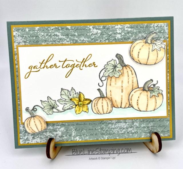 Stampin' Up! Pretty Pumpkins, Harvest Meadow, Thanksgiving, Jackie Beers