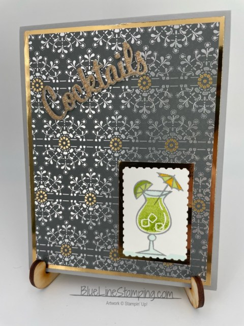 Stampin' Up!, Nothing Better Than, Love You More Dies, Postage Punch, Gold Metallic Paper Brass Foil, Simply Elegant DSP, Jackie Beers