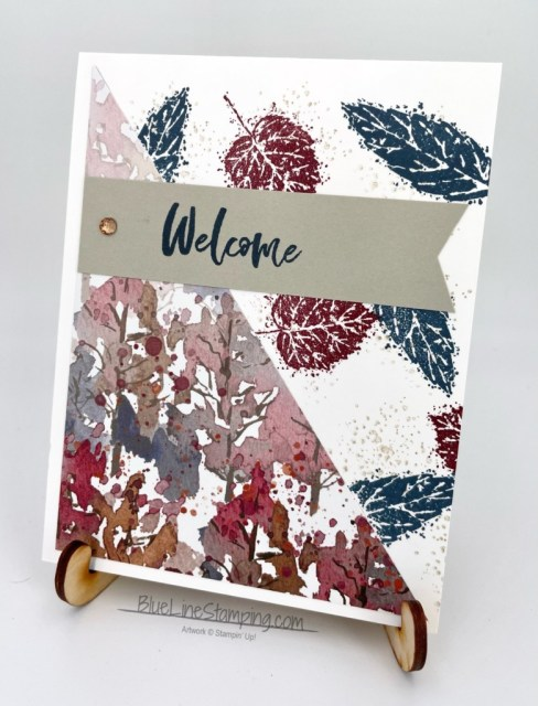 Stampin' Up!, Gorgeous Leaves, Beauty of the Earth, Banner Pick A Punch, Jackie Beers