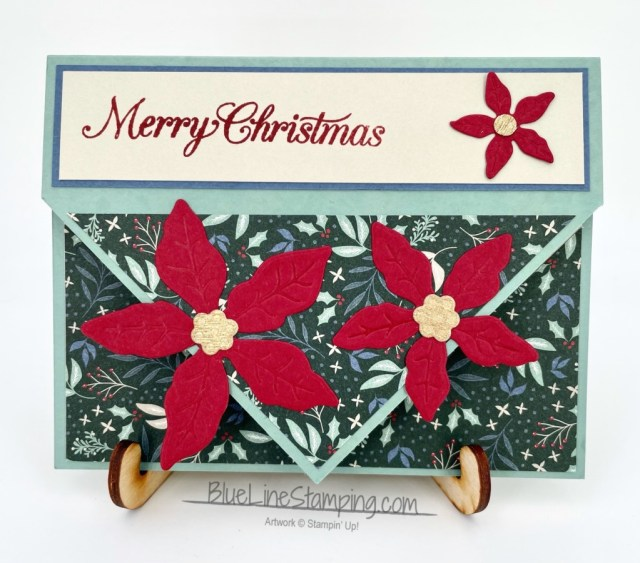 Stampin' Up!, Poinsettia Petals, Tidings of Christmas, Gold Metallic, Jackie Beers