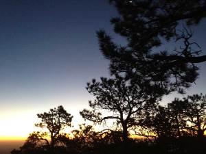 dawn on Guadalupe Peak