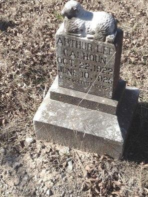 headstone for calhoun
