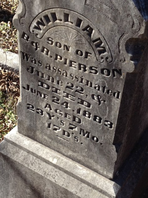 headstone for pierson