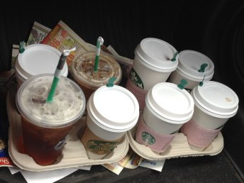 Emergency organizer coffee run