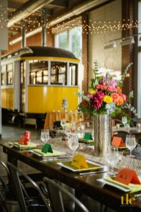 Charlotte, NC -- Aug. 6, 2016 -- John and Tanza Sampson Wedding at the Trolley Museum in SouthEnd. (Photo by Tricia Coyne)