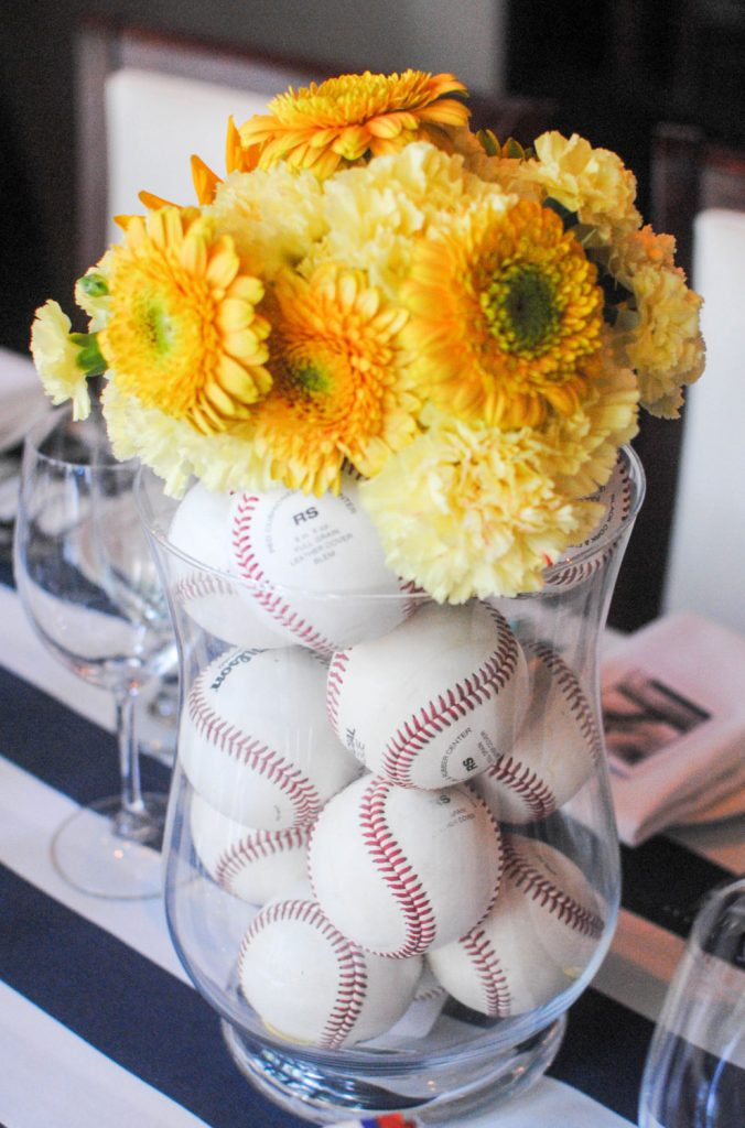 Baseball centerpiece_