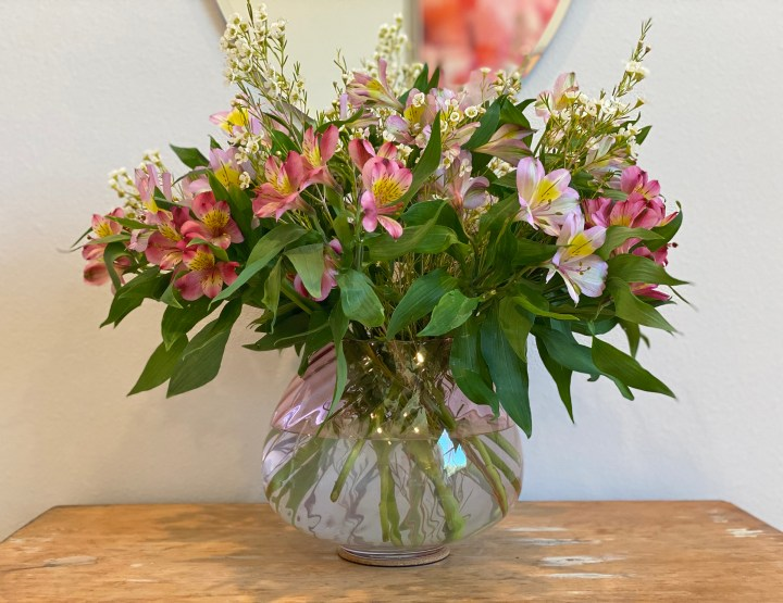 Home Staging with Plants and Flowers in Vase