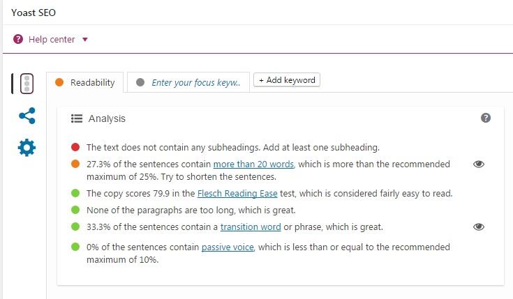 writing blog posts readability