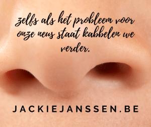 zelfs als het probleem voor onze neus staat kabbelen we verder en vergeten we een duurzame toekomst voor onze kinderen