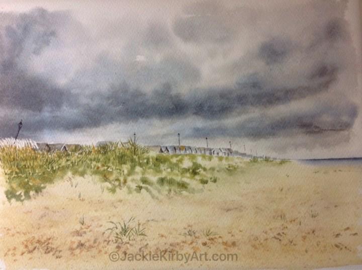 Watercolour stormy Sutton