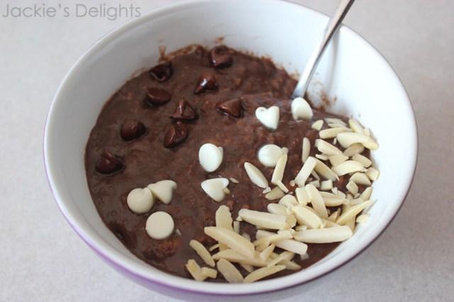 chocolate banana oatmeal.2