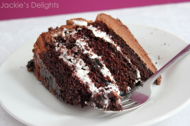 fudgy cookies and cream cake.4