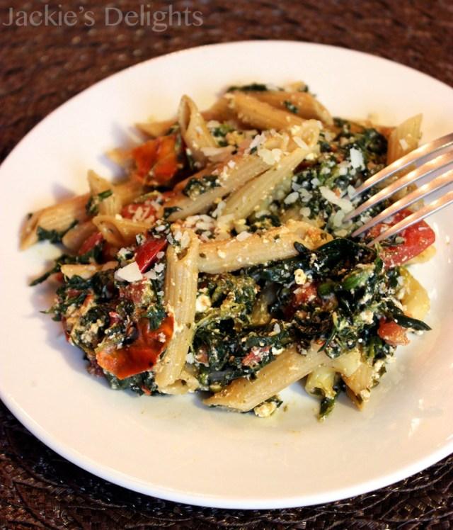 spinach tomato pasta.3