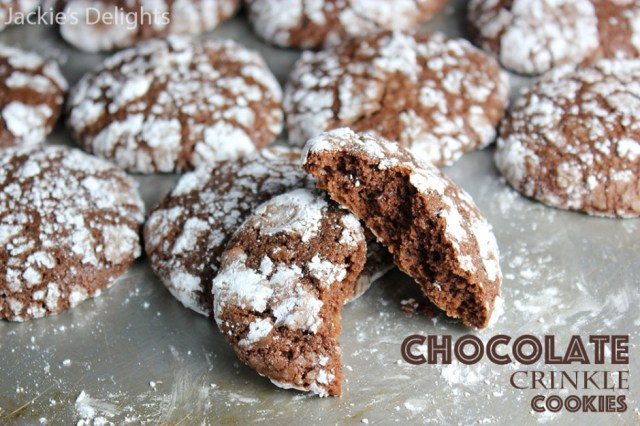 Chocolate crinkle cookies.3