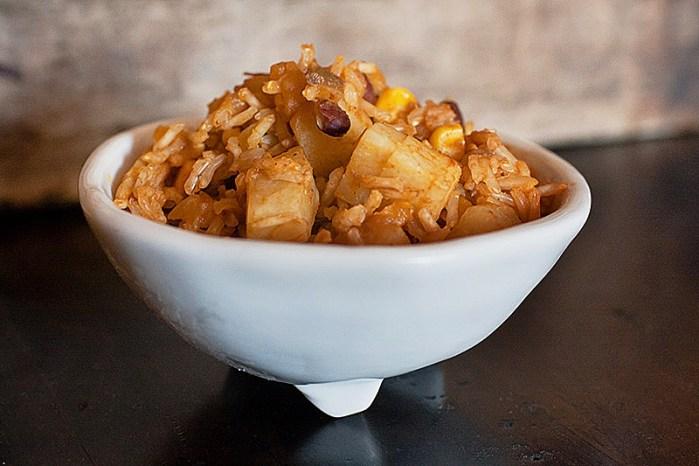 spanish rice with chayote recipe photo