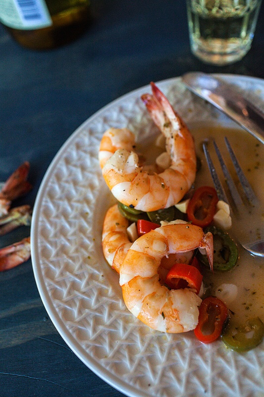 Sicilian Shrimp with Hot Peppers and Lots of Garlic