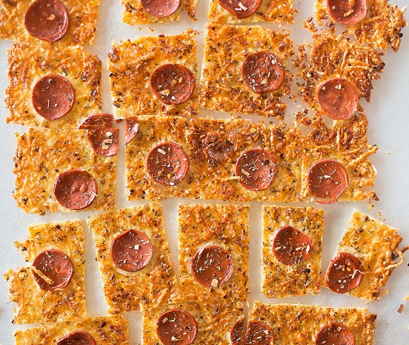 Parmesan Pepperoni Crustless Pizza
