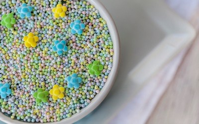 Frozen (or not) No-Bake Chocolate Cheesecake Mousse with Summertime Sprinkles