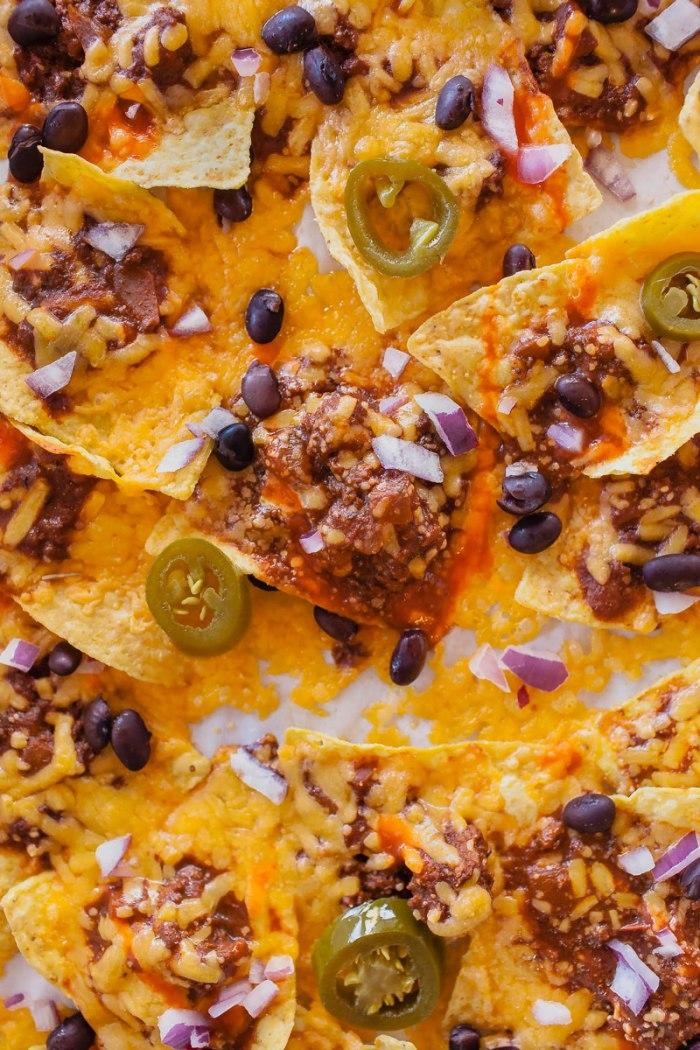 Cincinnachos! Cincinnati-Style Chili Cheese Nachos: