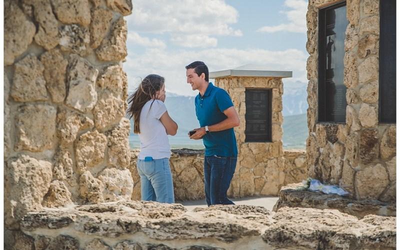 Memorial Hill   Jake & Malinda Proposal   Midway Utah Photographer