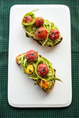 Asparagus Tomato Tartine Greens 24/7 Vegan Recipes