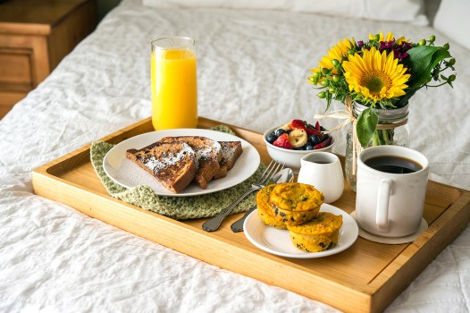 Breakfast in Bed Happy Herbivore Holidays and Gatherings