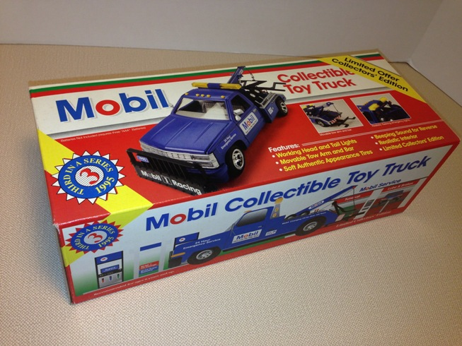 Mobil 1995 Collectible Toy Tow Truck Jackies Toy Store