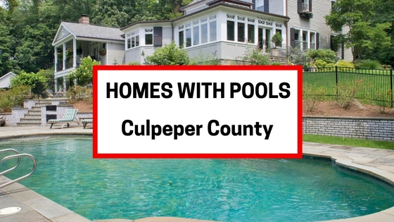 homes for sale with pools culpeper va