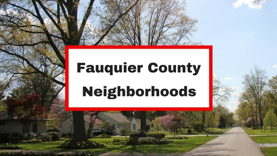 fauquier county virginia neighborhoods