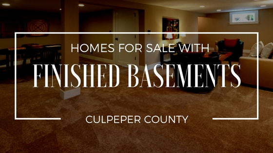 homes for sale with finished basement culpeper va