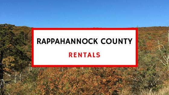rappahannock county va rentals