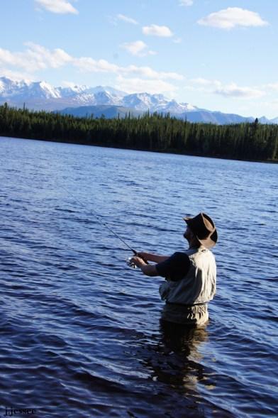 Jack fishing at Donna Lake