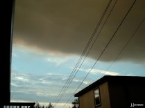 I remember walking out of a building and being confused about this huge dark cloud, but I soon realized it was a tendril of dense smoke moving over Fairbanks.
