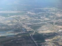 The middle rectangle spans south Fairbanks from the airport to Fort Wainwright. The University of Alaska is in the upper right hand corner and below it is part of downtown.